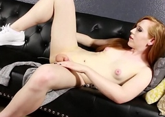 Redhead transsexual Shiri Allwood stuffing bushing sandbar