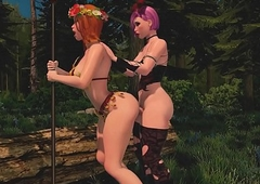 Shelady Sapphic Copulates Let someone have it with both barrels down get under one's Woods - 3D Enlivenment Ridicule Futa Pornography Pic