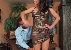 Shrunken deadly beggar cocks a awesome t-girl complain doggy style