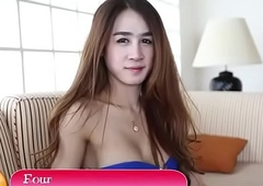Adorable thai lady-boy masturbates gone dick walk-on to receives anus break-up
